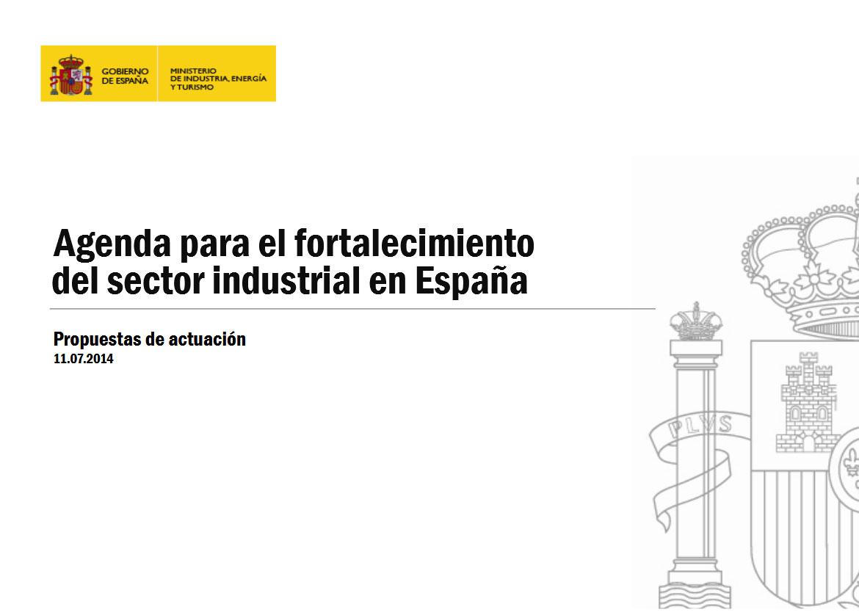 Agenda para el fortalecimiento del sector industrial en España